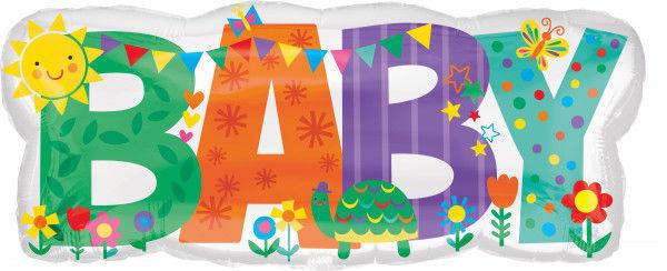Picture of Schriftzug Baby bunt Folienballon