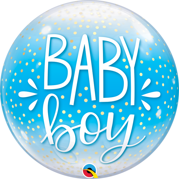 Picture of Baby Boy Single Bubble 22""