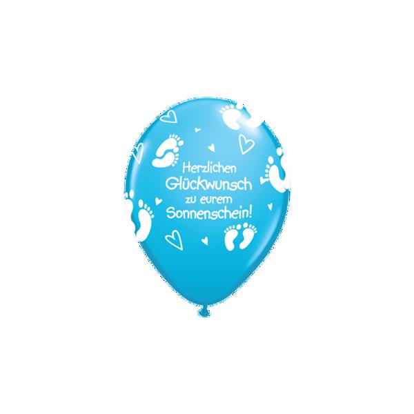 Picture of Latexballon euer Sonnenschein blau 16 inch
