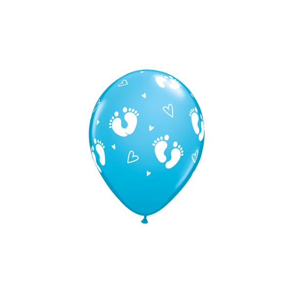 Picture of Latexballon Baby Footprints blau 11 inch