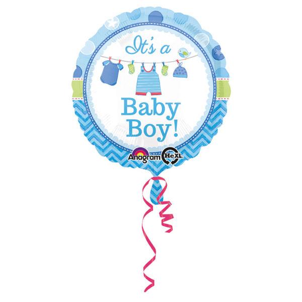 "Picture of It's a baby boy Folienballon 18"""