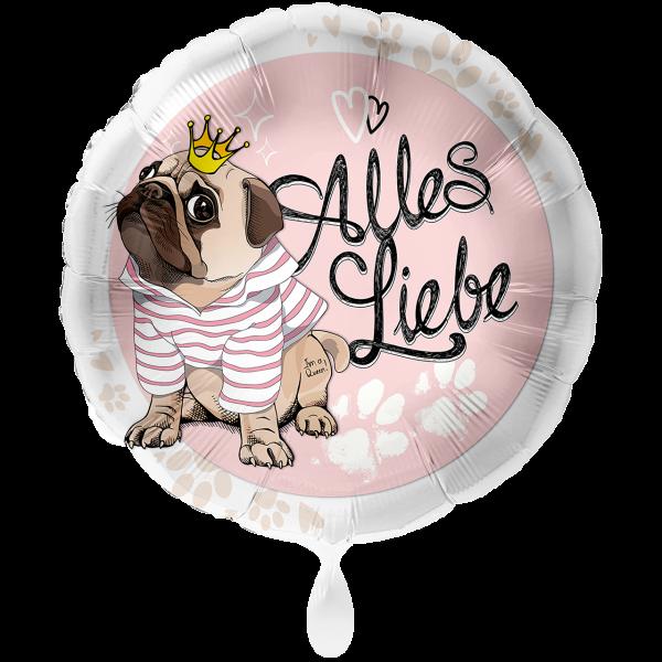 "Picture of Folienballon 18"" Alles Liebe Mops"