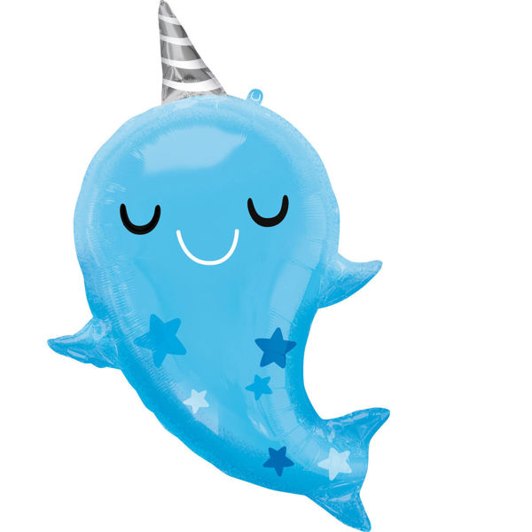 Picture of Super Shape Narwhal Baby Folienballon