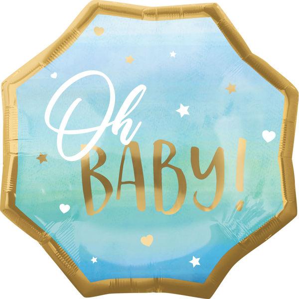 Picture of Jumbo Blue Baby Boy Folienballon