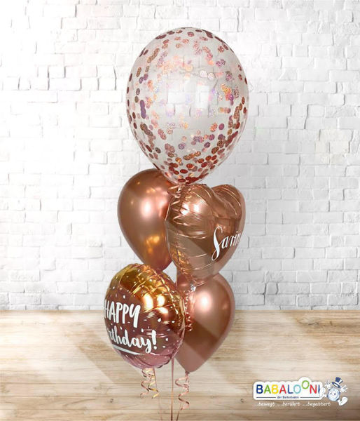 Picture of Konfettiballon Arrangement Rosegold