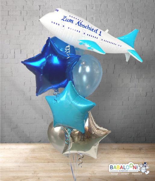 Picture of Ballonarrangement zum Abschied Flugzeug