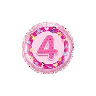 Picture of Folienballon Alter 4 rosa