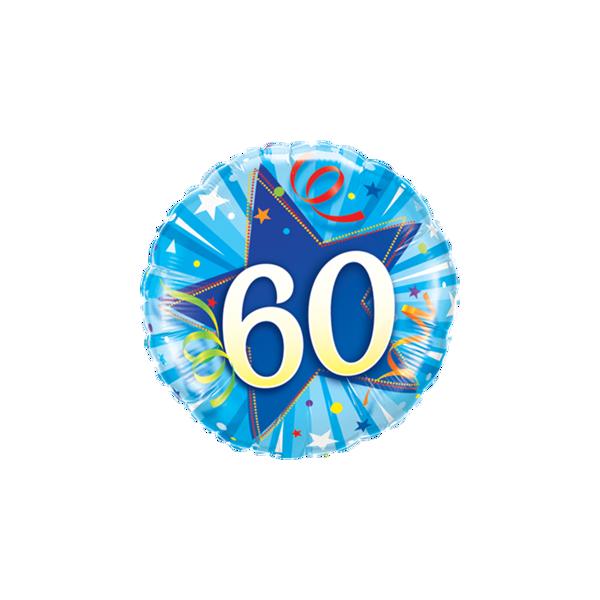 """Picture of 60 Shining Star Bright Blue Folienballon 18"""""""