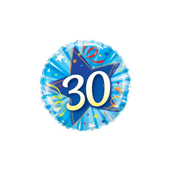 """Picture of 30 Shining Star Bright Blue Folienballon 18"""""""