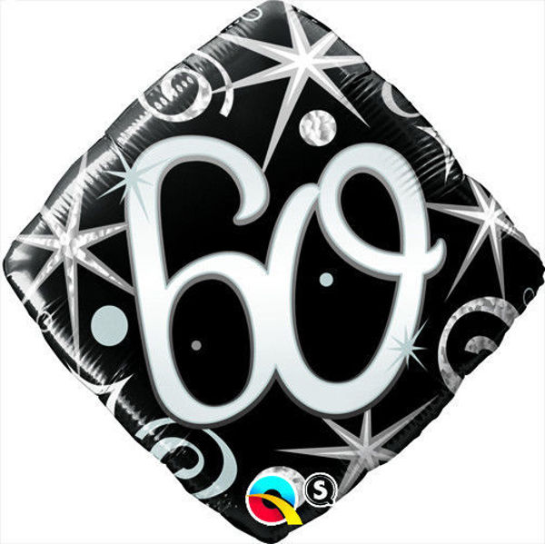 "Picture of ""60"" ELEGANT SPARKLES & SWIRLS Folienballon 18"""