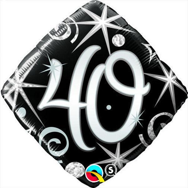 "Picture of ""40"" ELEGANT SPARKLES & SWIRLS Folienballon 18"""