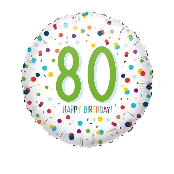 Picture of Confetti Bday 80 Folienballon