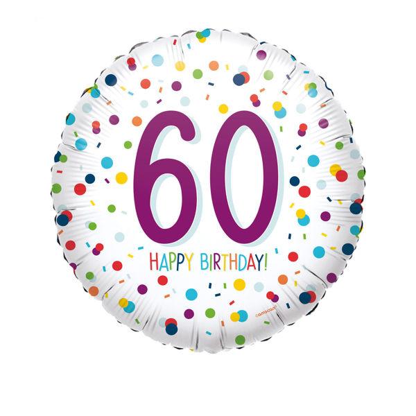 Picture of Confetti Bday 60 Folienballon