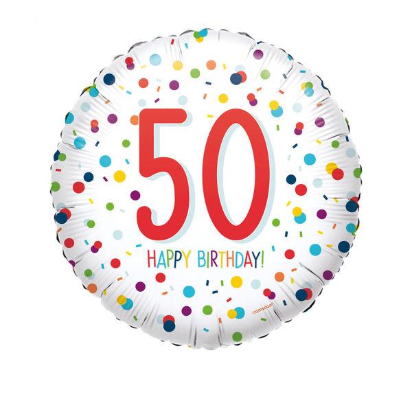 Picture of Confetti Bday 50 Folienballon