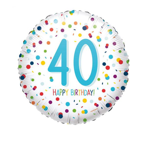 Picture of Confetti Bday 40 Folienballon