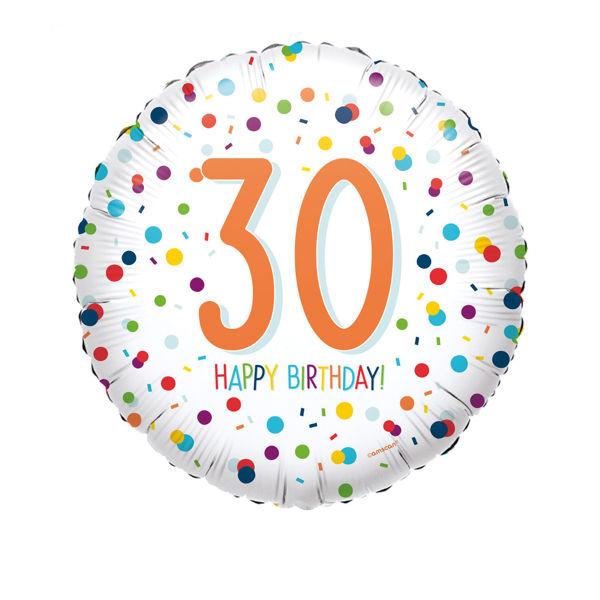 Picture of Confetti Bday 30 Folienballon