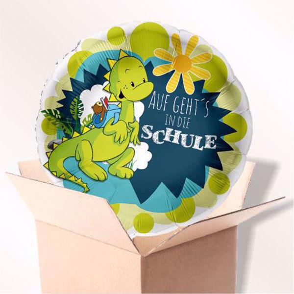 """Picture of Folienballon """"Auf geht's in die Schule"""" im Karton"""