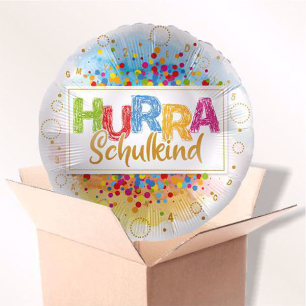 "Picture of Folienballon ""Hurra Schulkind"" im Karton"
