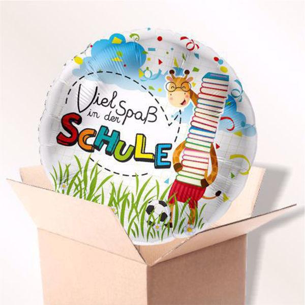 """Picture of Folienballon """"Viel Spaß in der Schule"""" im Karton"""