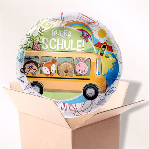Picture of Folienballon Schulbus im Karton