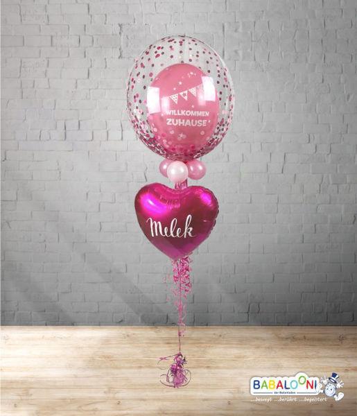 Picture of Bubble Willkommen Zuhause mit Herzballon