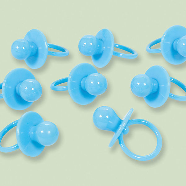 Picture of 8 Deko-Konfetti Schnuller blau