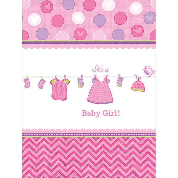 Picture of Tischdecke Baby Shower With Love Girl