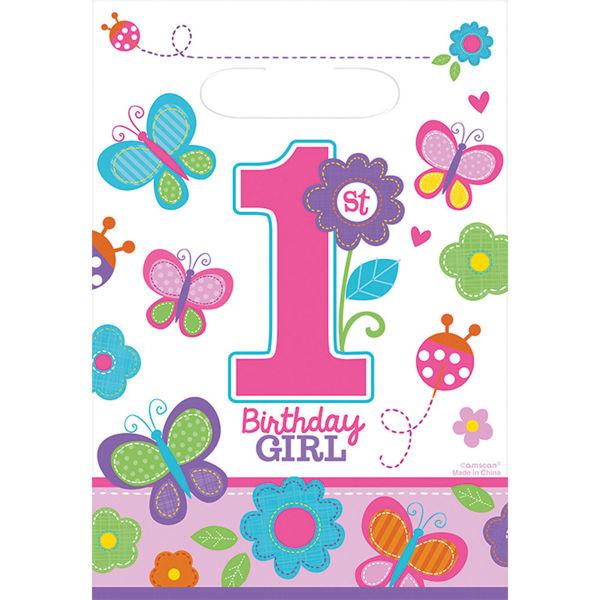Picture of 8 Partytüten Sweet Birthday Girl
