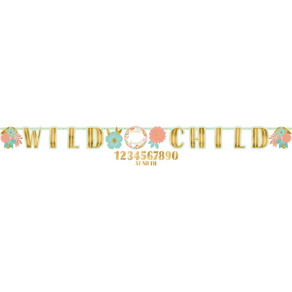 Picture of Letter Banner Boho Birthday Personalisierbar