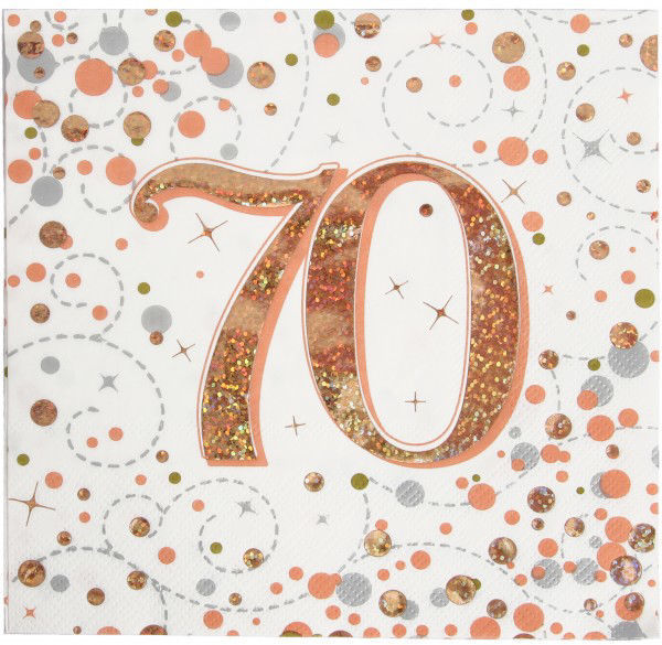Picture of 16 SERVIETTEN 70TH ROSE GOLD