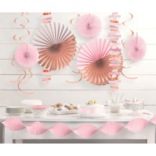 Picture of Decoration Kit Rose Gold Blush Paper 14-teilig