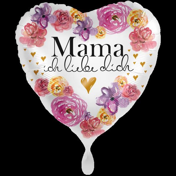 """Picture of Mama ich liebe dich Folienballon 17"""""""