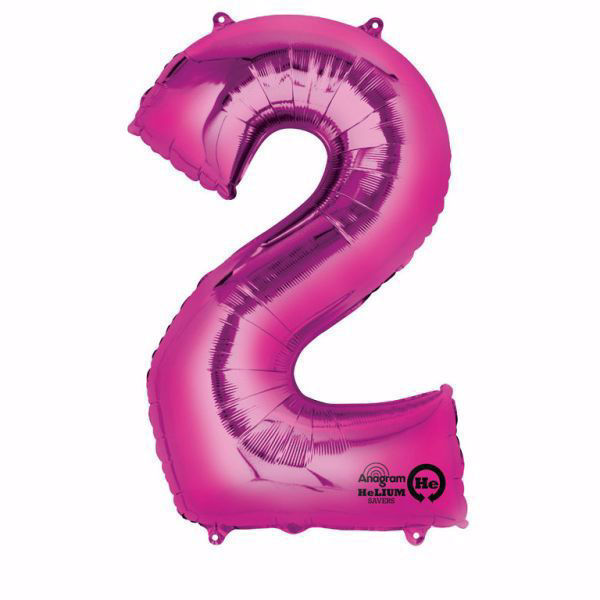 Picture of Folienballon 2 Pink Zahl XXL