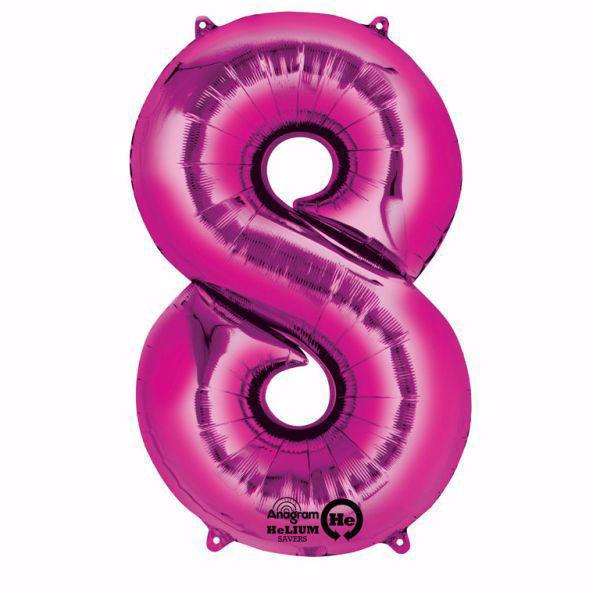 Picture of Folienballon 8 Pink Zahl XXL