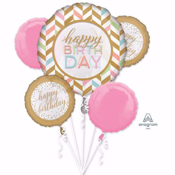 Picture of Bouquet Set Folienballon Geburtstag Vintage Pink
