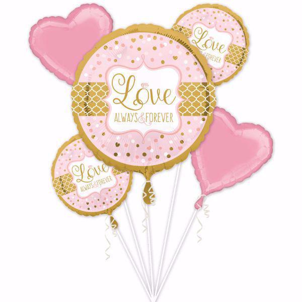 Picture of Bouquet Set Folienballon Vintage Hochzeit Love  Always Forever