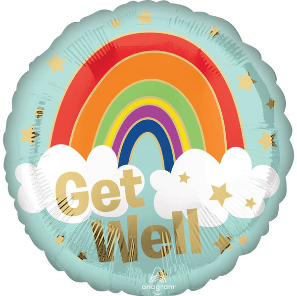 "Picture of Get Well Golden Rainbow Folienballon 18"""