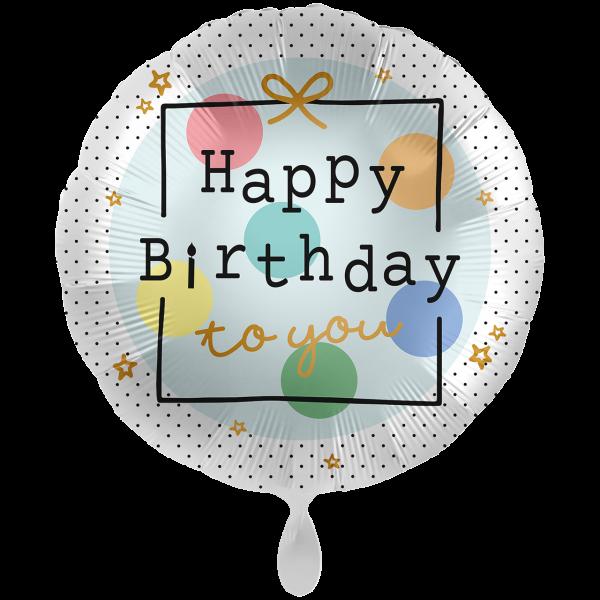 "Picture of Birthday Present Folienballon XXL 28"""