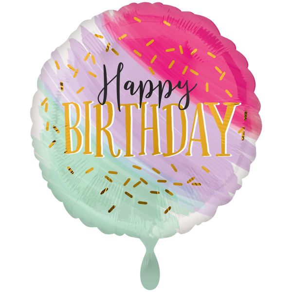 "Picture of Water Color Birthday Folienballon XXL 28"""