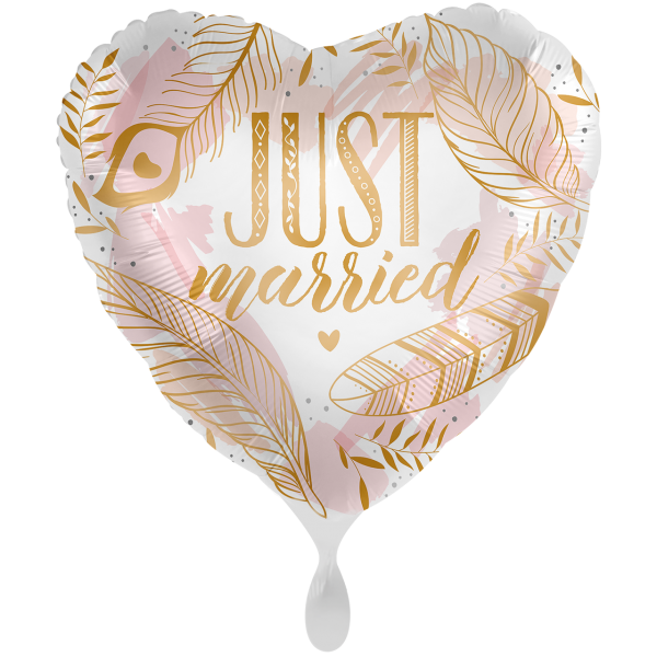 "Picture of Just Married Boho Folienballon XXL 28"""