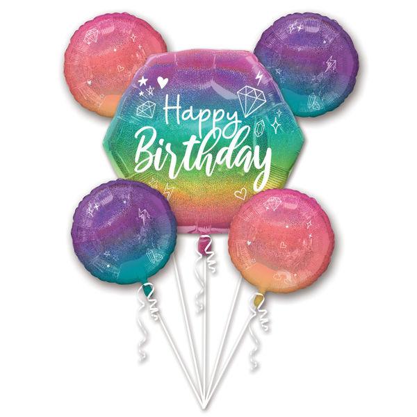 Picture of Folienballon Bouquet Sparkle Happy Birthday
