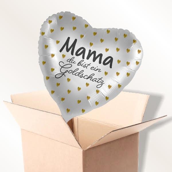 Picture of Folienballon Goldschatz Mama im Karton
