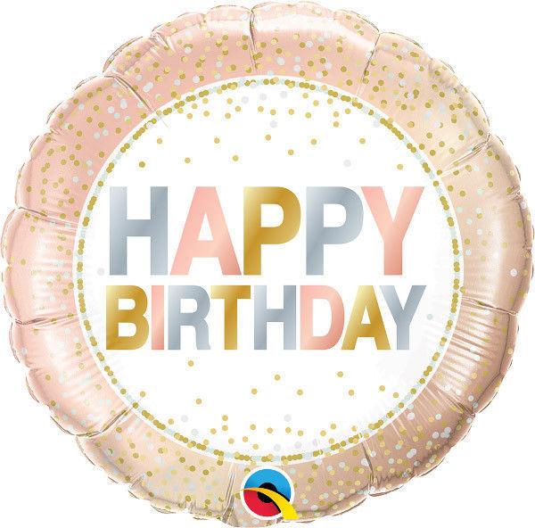 """Picture of BIRTHDAY METALLIC DOTS Folienballon 18"""""""