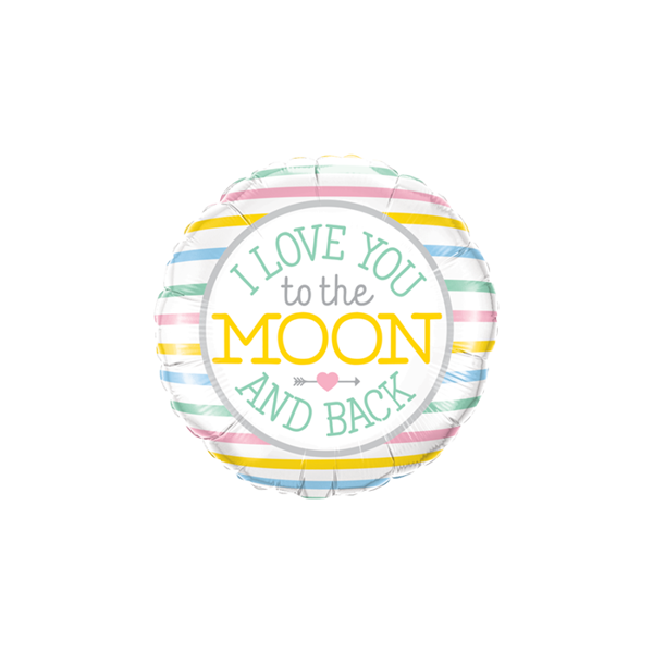 """Picture of I Love You To The Moon Folienballon 18"""""""