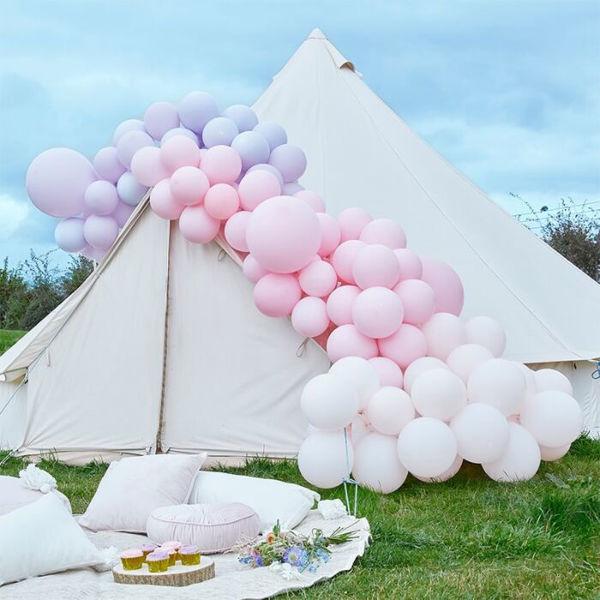 Picture of Pastel Rosa und Flieder Ballongirlanden Set