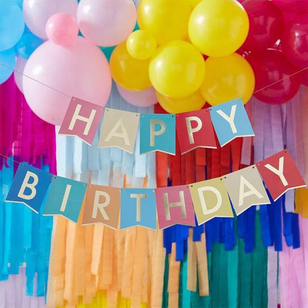 Picture of Happy Birthday Regenbogen Girlande