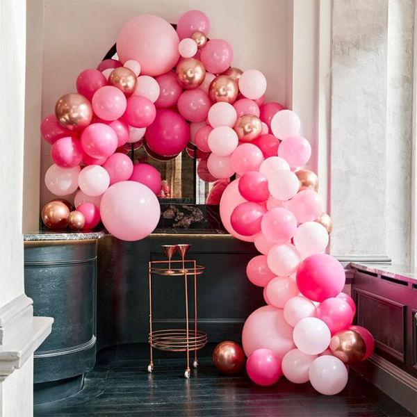 Picture of LUXE PINK AND ROSE GOLD Ballongirlanden Set