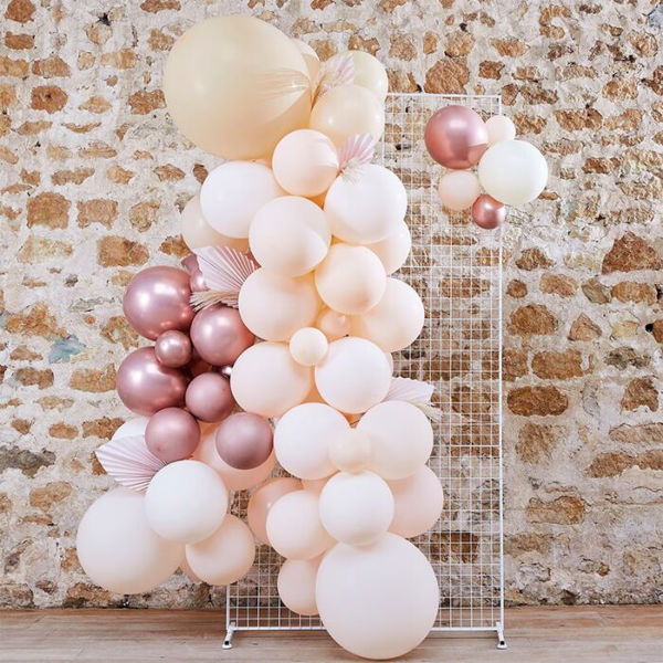Picture of PAMPAS, WHITE, PEACH AND ROSE GOLD Ballongirlanden Set