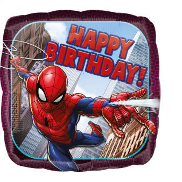 "Picture of Spider-Man Happy Birthday Folienballon 17"""