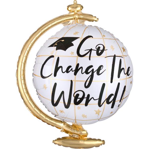 "Picture of Change the World Globus Folienballon 23"""